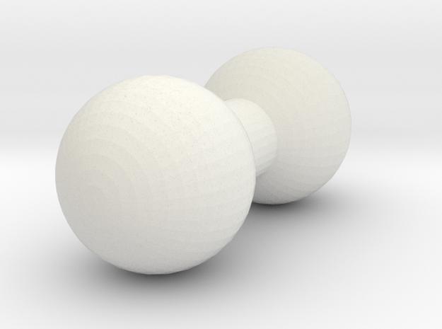 5mm Post Single in White Natural Versatile Plastic