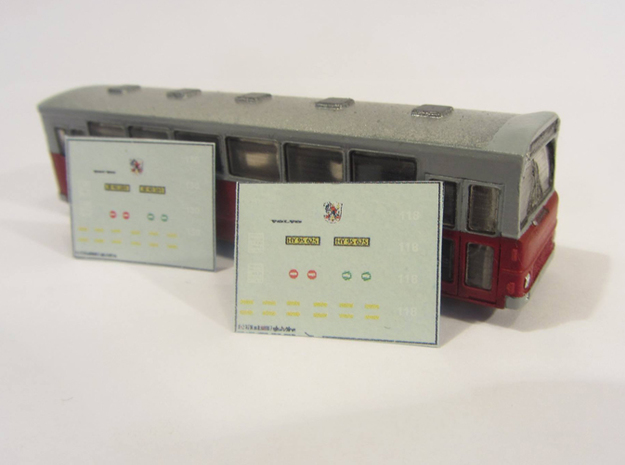 Volvo B10m Bus 2-0-2 Odense N scale 3d printed Decals can be obtained from skilteskoven.dk