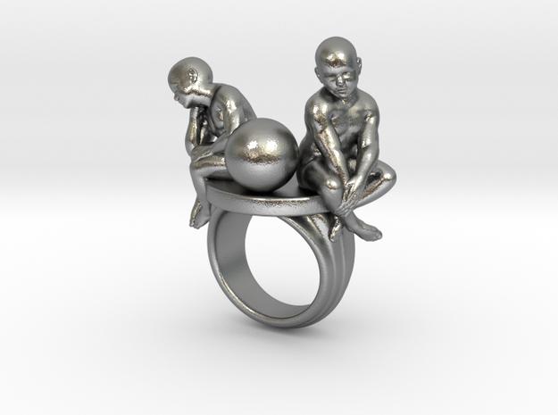 Melancholia ring in Natural Silver: 7.25 / 54.625