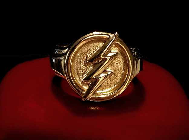 The Flash Ring in Natural Brass: 6 / 51.5