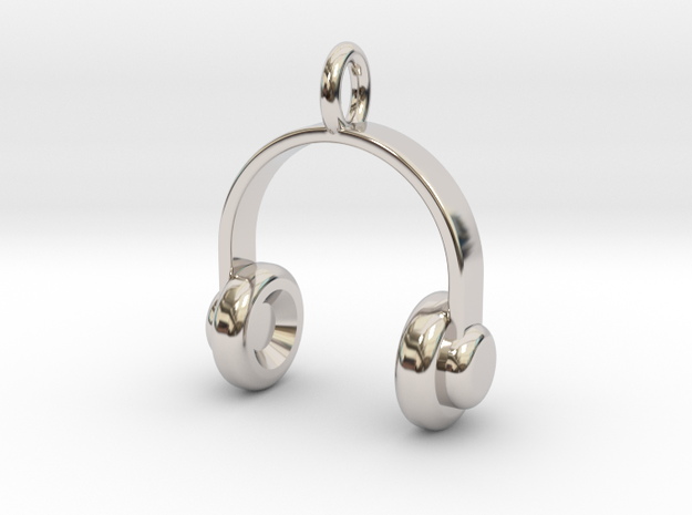 Headset - Pendant in Rhodium Plated