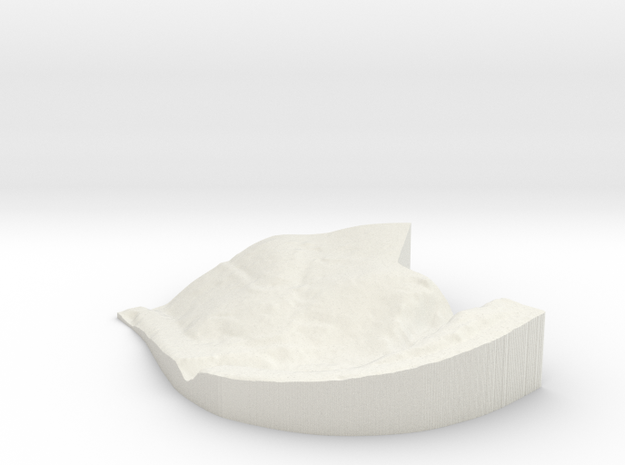 """JOR - Property Map: 1""""=50' Scale in White Natural Versatile Plastic"""