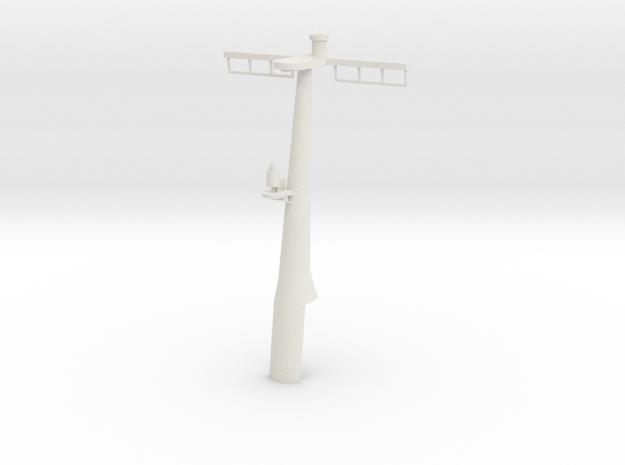 1/96 scale Hamilton Mast Rear - Pre-Framm in White Strong & Flexible