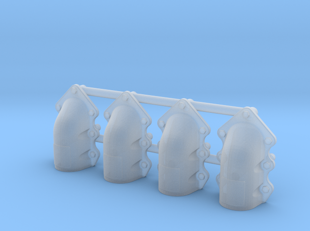 1:35 T-34 scallopped exhaust covers in Smooth Fine Detail Plastic