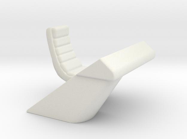 Console Type 18 Right Hand (Star Trek) in White Natural Versatile Plastic: 1:30