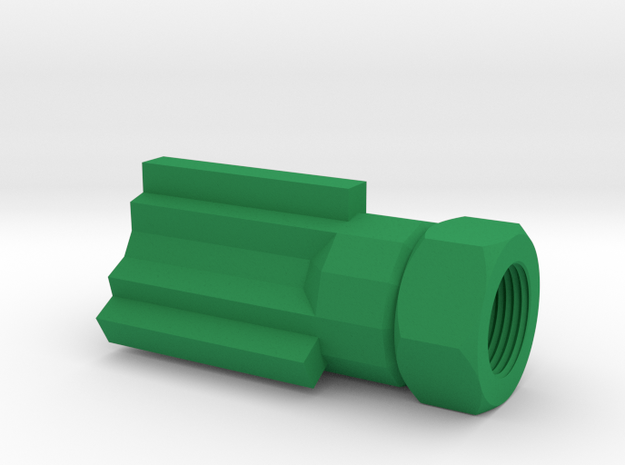 Insanity Airsoft Flash Suppressor (14mm-) in Green Processed Versatile Plastic