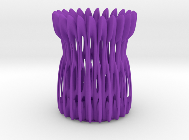 Classic Pen Holder  in Purple Processed Versatile Plastic