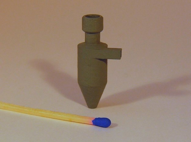 Zyklonfilter V3 1:120 in Smooth Fine Detail Plastic