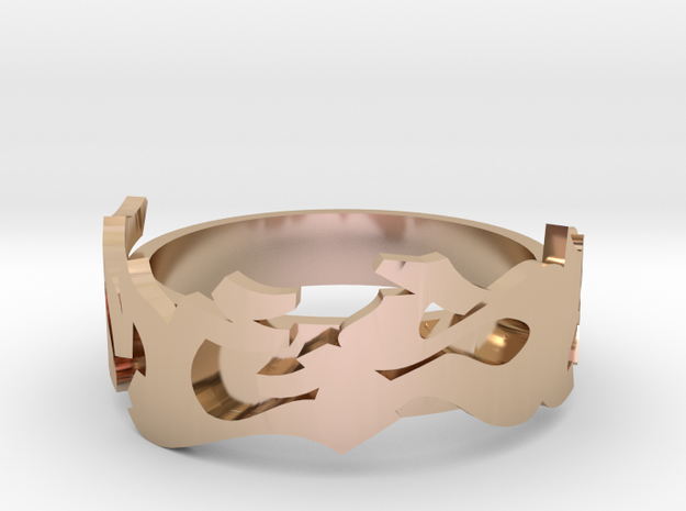 Mesh Deluxe in 14k Rose Gold Plated