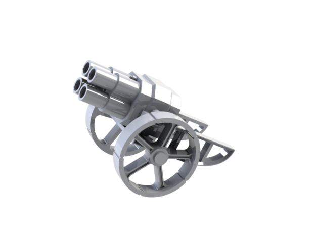 Imperial Thudder Heavy Mortar in White Natural Versatile Plastic