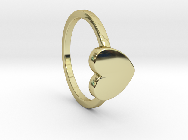Heart Ring Size 6.5 in 18k Gold Plated