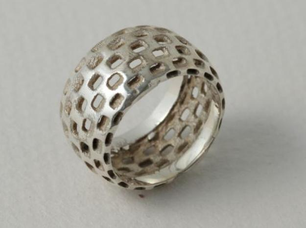 square size 56 3d printed silver