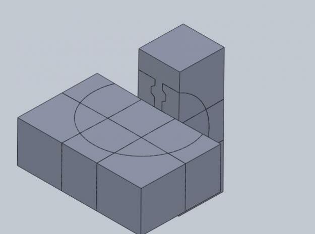 Crazy floppy cube 3d printed Description