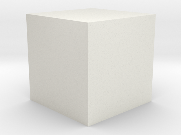 The Price Cube in White Natural Versatile Plastic