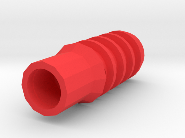 T-37 PT Airsoft Muzzle Suppressor (14mm Self-Cutti in Red Processed Versatile Plastic