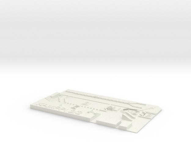 Kamppi Metroasema ylätaso in White Natural Versatile Plastic