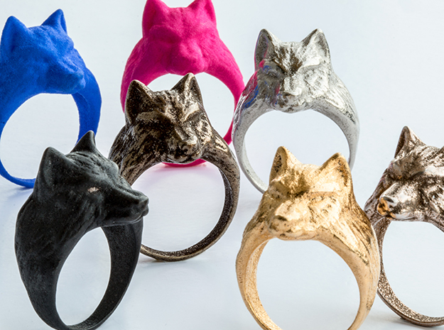 Wolf ring in Stainless Steel