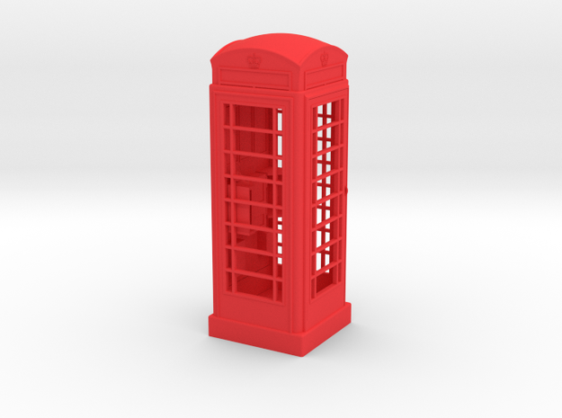 K6 Telephone Box (10cm) in Red Strong & Flexible Polished
