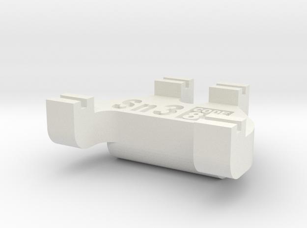 Sn3 Track Gauge - Code 83 in White Natural Versatile Plastic