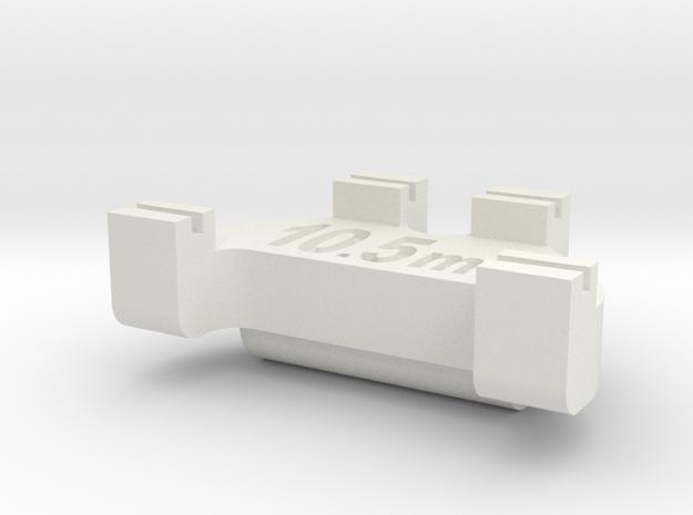 HOn3 Track Gauge - Code 55 in White Natural Versatile Plastic