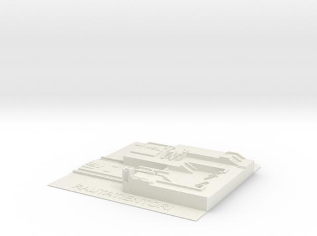 Rautatientori Metroasema in White Natural Versatile Plastic