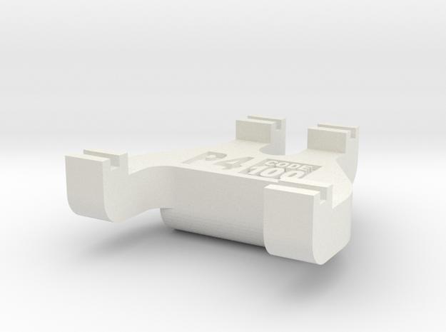 Protofour Track Gauge - Code 100 in White Natural Versatile Plastic