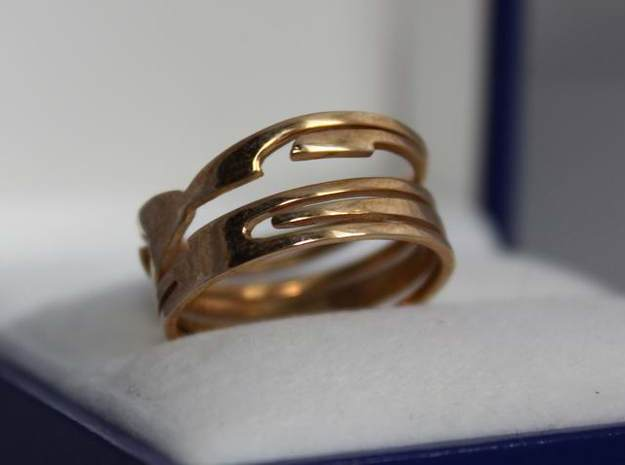 RING Nº2 Size 7 3d printed Ring Nº2 in Polished  Brass.