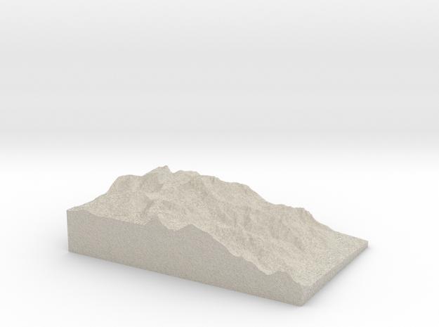 Model of Mount Williamson in Natural Sandstone