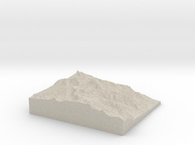 Model of Trojan Peak in Natural Sandstone