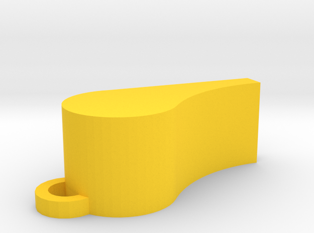 Whistle (really loud) in Yellow Processed Versatile Plastic