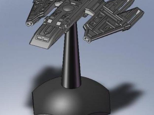 stealth frigate 3d printed Screenshot of the model on a standard hex base