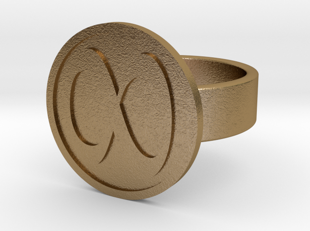 Infinity Ring in Polished Gold Steel: 10 / 61.5