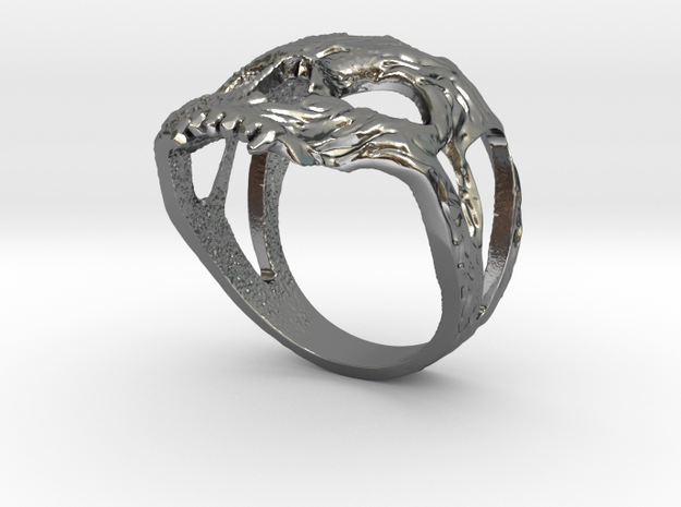 Ring skull in Polished Silver: 10.25 / 62.125