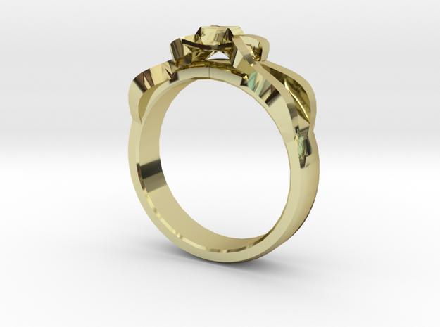 Designer Ring #1 in 18k Gold Plated Brass