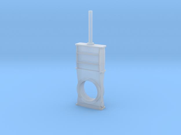 Gate Valve 7 mm 1:100 in Smooth Fine Detail Plastic
