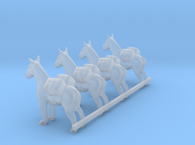 S Scale Pack Donkeys in Smooth Fine Detail Plastic