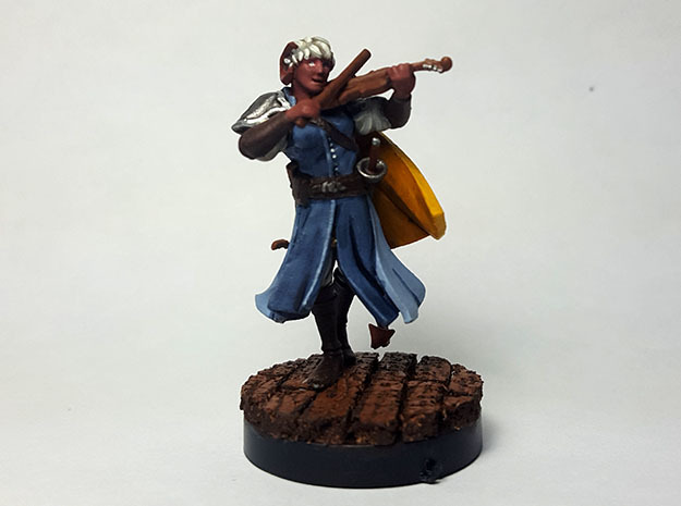 Tiefling Bard in Smooth Fine Detail Plastic