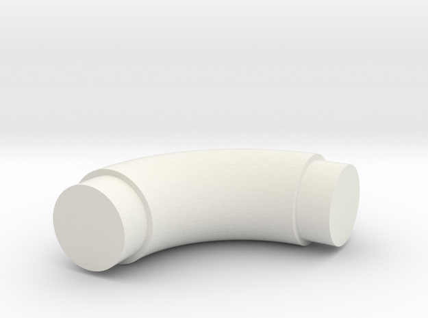 Elbow-8 in White Natural Versatile Plastic