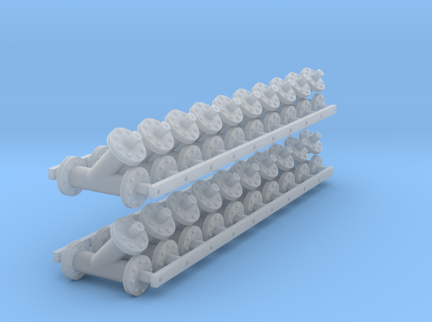1:48 45 deg Lateral 6in Flanged - V3 20ea in Smooth Fine Detail Plastic