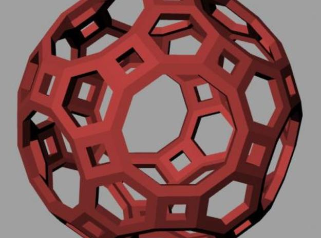 Truncated icosidodecahedron 3d printed Rendering