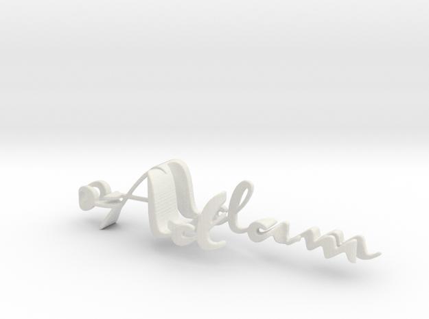 3dWordFlip: 0-Adam/0-Eve in White Strong & Flexible