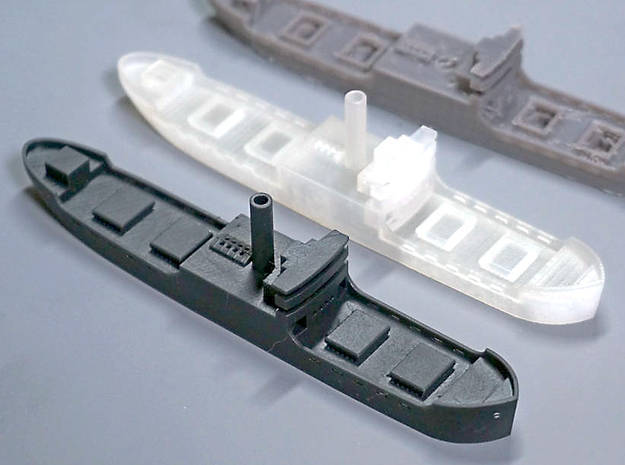 Three island cargo ship  in Smooth Fine Detail Plastic