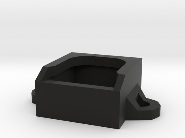 Micro Fan Mount 17x17x8mm in Black Strong & Flexible