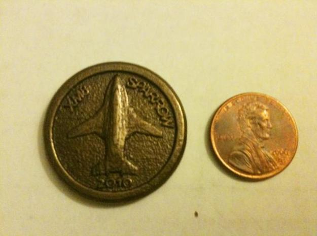 Harber Aircraft logo coin 3d printed Penny comparison 2
