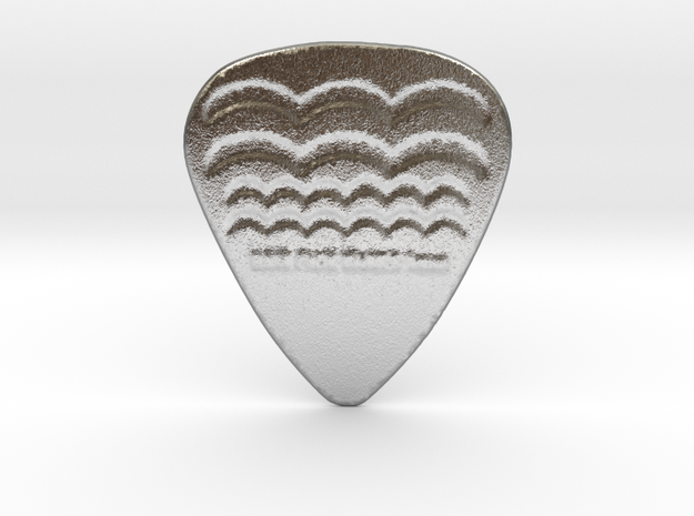 Raw Pick Waves Guitar Pick 1mm in Natural Silver