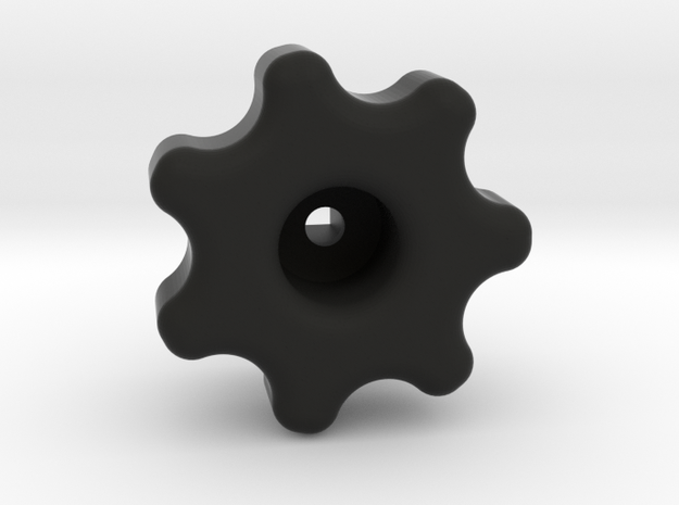 Water knob in Black Strong & Flexible