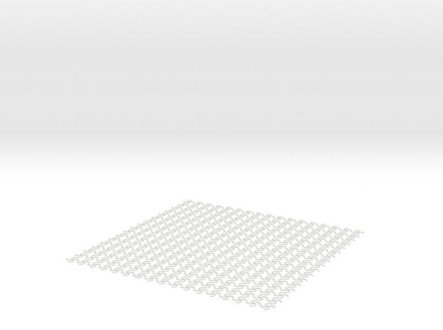 Spaghetti-Patterned Mat in White Natural Versatile Plastic
