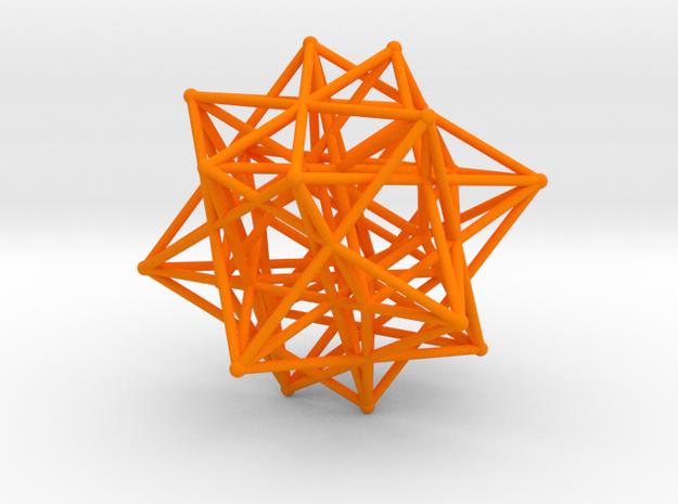 Compound of Three 16-Cells in Orange Processed Versatile Plastic