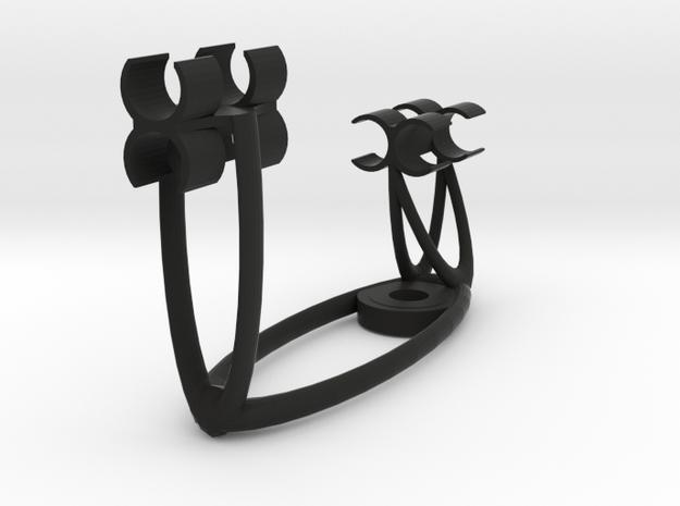 Double MS plus Z axis 3D array (19mm) STUDIO beta in Black Natural Versatile Plastic