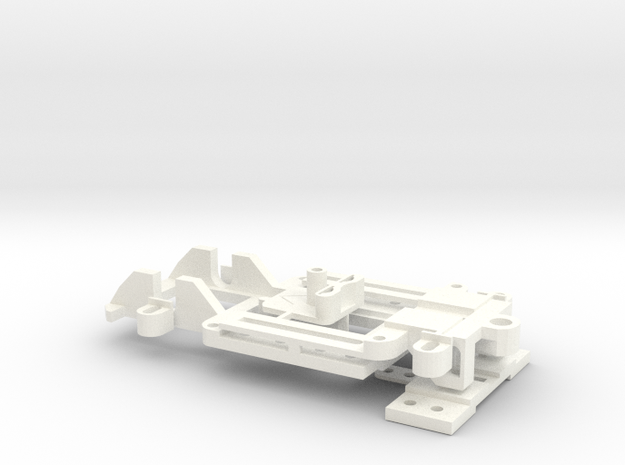 1/43 Universal Slotcar Chassis - V2 in White Strong & Flexible Polished